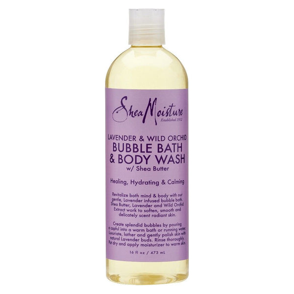 Shea Moisture Lavender & Wild Orchid Bubble Bath & Body Wash 473ml