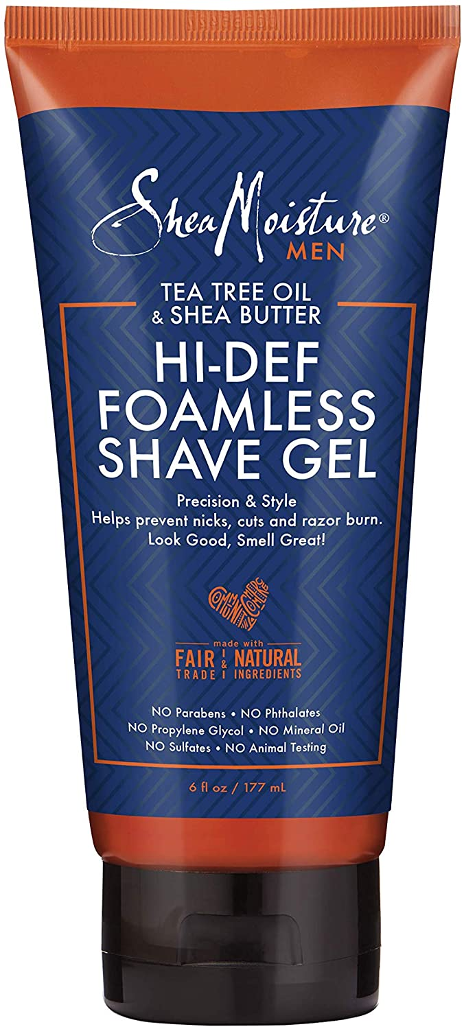 Shea Moisture Men Tea Tree Oil & Shea butter Hi-Def Foamless Shave Gel - Gel Rasage 177ml