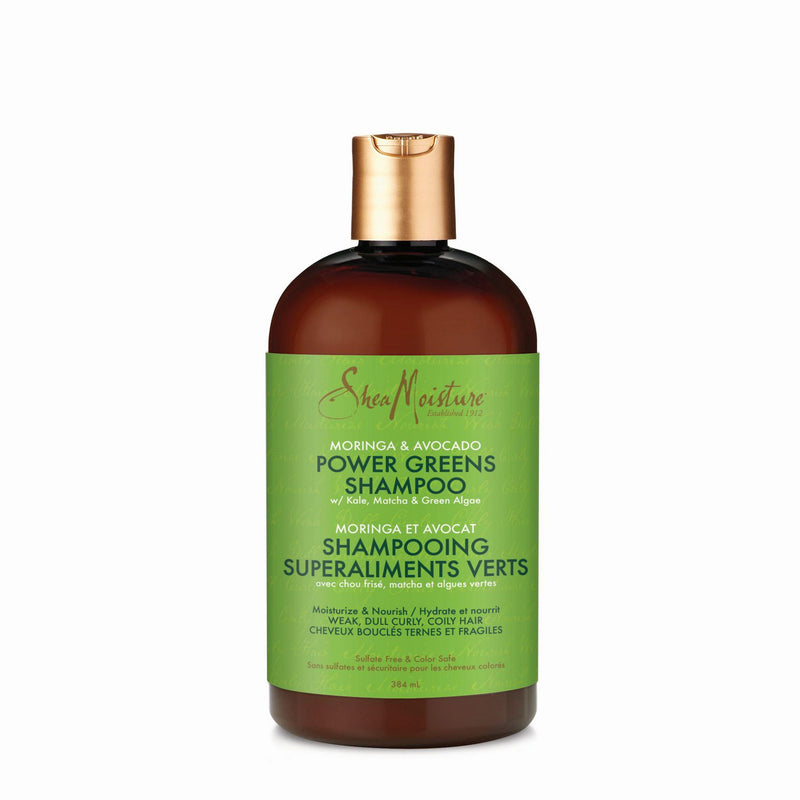 Shea Moisture Moringa & Avocado Power Greens Shampoo - Shampoing 384ml