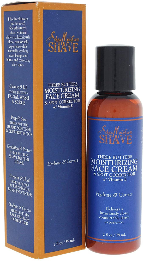 Shea Moisture Shave Three Butters Moisturizing Face Cream - Crème Visage Correcteur de Taches 59ml