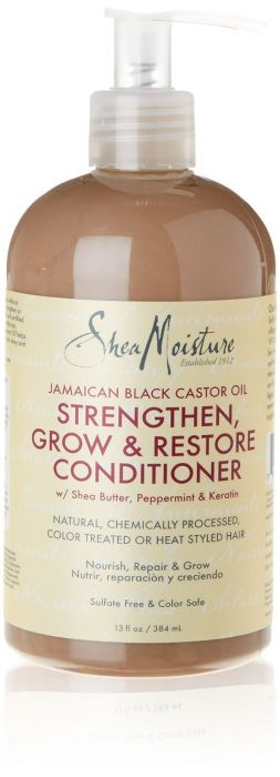Shea Moisture Jamaican Black Castor Oil Grow & Restore Conditioner - Après-Shampoing 384 ml