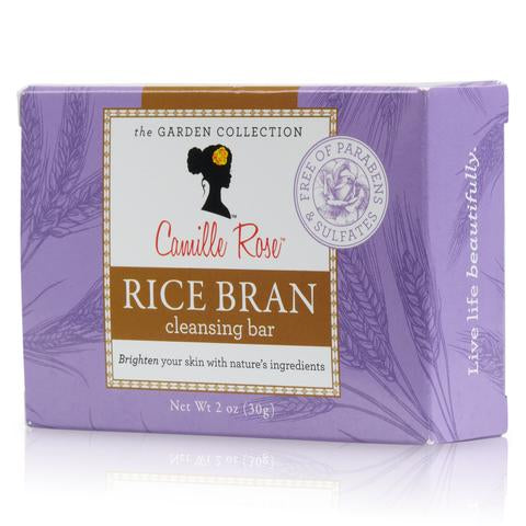 Camille Rose Rice Bran Cleansing Bar - Savon 30g