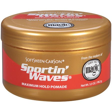 Sportin Waves Gel Pomade Maximum Hold (Gold) - Extra Fort Or 3.5 oz