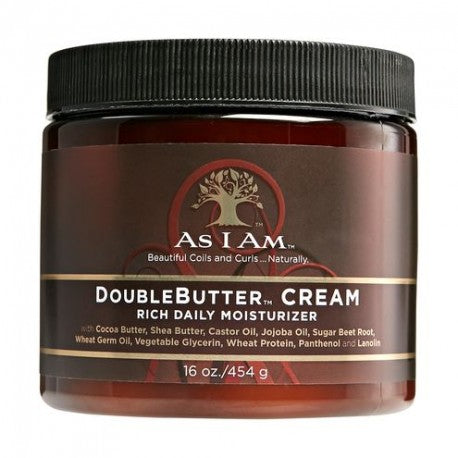 As I Am Double Butter Cream - Crème Riche Hydratation 454g