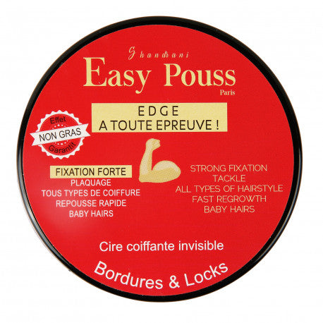 Easy Pouss Edge Cire Coiffante Bordure & Locks 100ml INVISIBLE