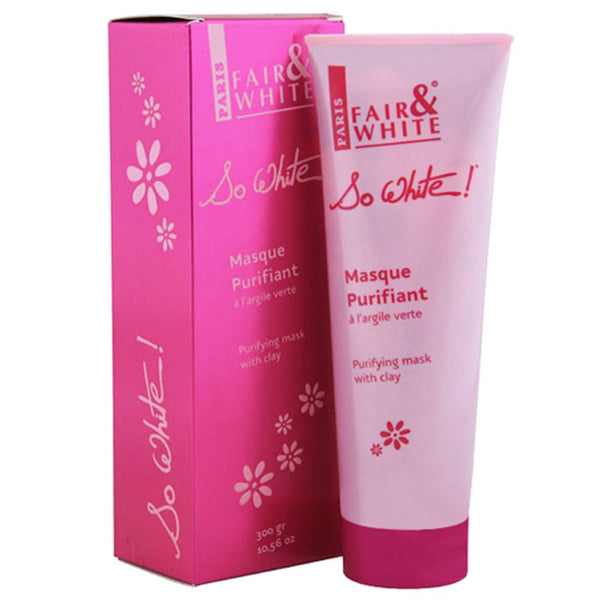 Fair And White So White Masque Purifiant à l'argile Verte 300g