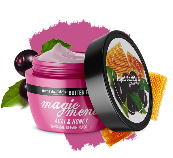 Aunt Jackie's Butter Fusions MAGIC MEND – Acai & Honey Thermal Repair Masque 227g
