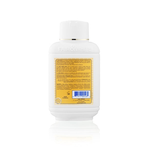 Fair And White Lait Corporel Hydratant et Éclaircissant AHA-2 500ml