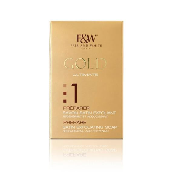Fair And White Gold Savon Exfoliant 200g