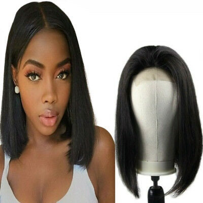 Lace Wig Frontal Brésilienne Straight Hair BOBO Couleur Naturel