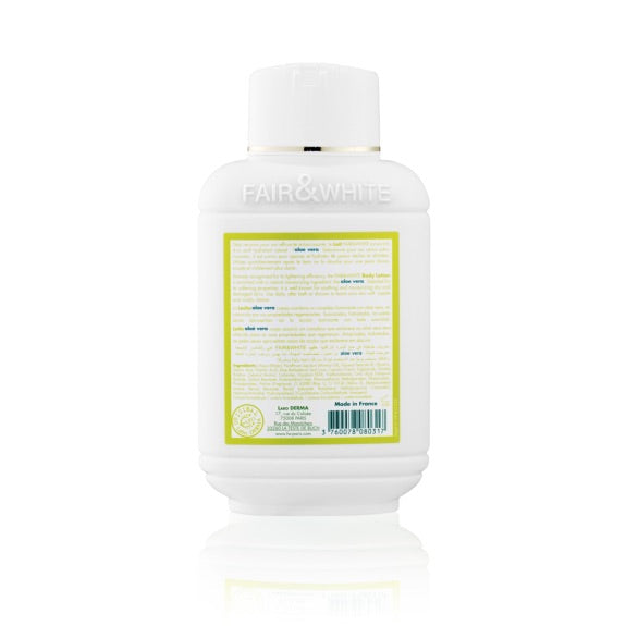 Fair And White Lait Corporel Éclaircissantn et Hydratant Aloe Vera 500ml