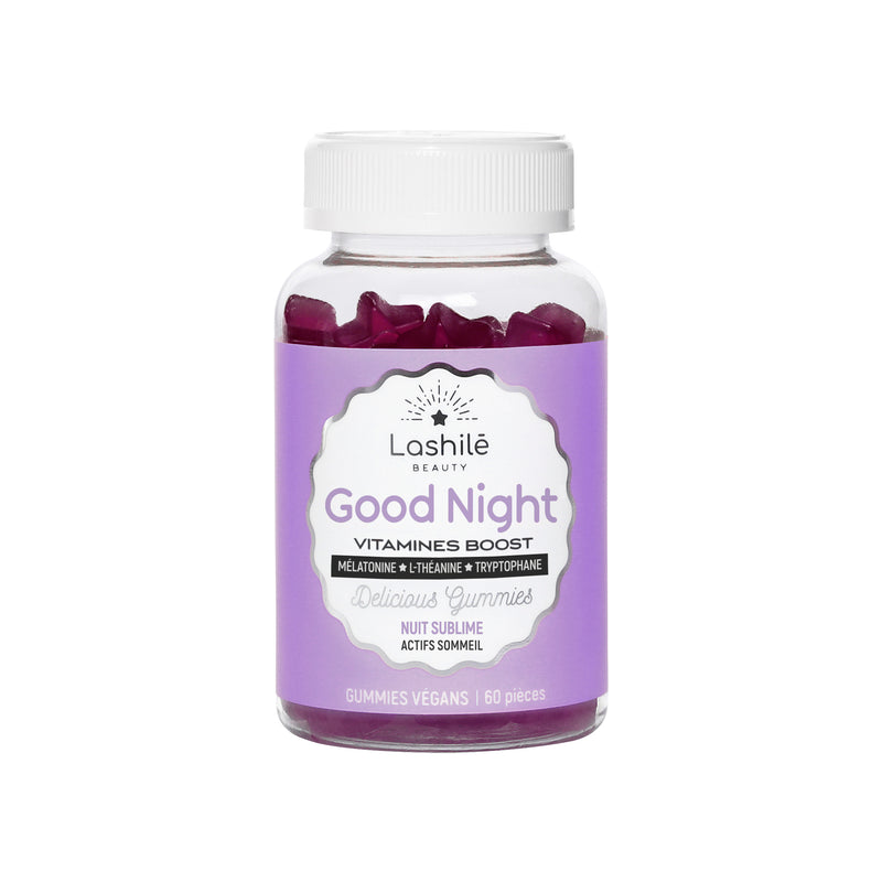 Lashilé Good NIGHT Vitamines Boost Gummies Vegans 60 pièces