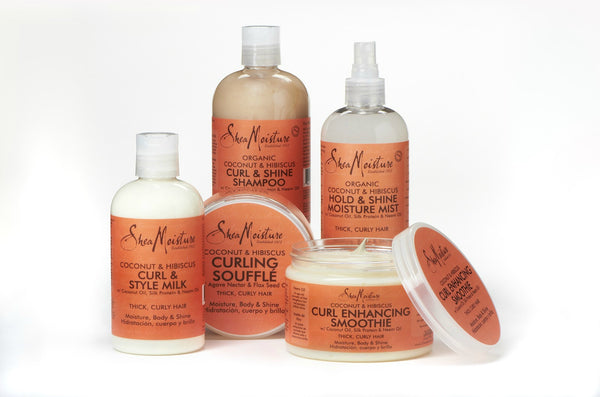 Shea Moisture Gamme Coconut & Hibiscus Pack Programme Boucles