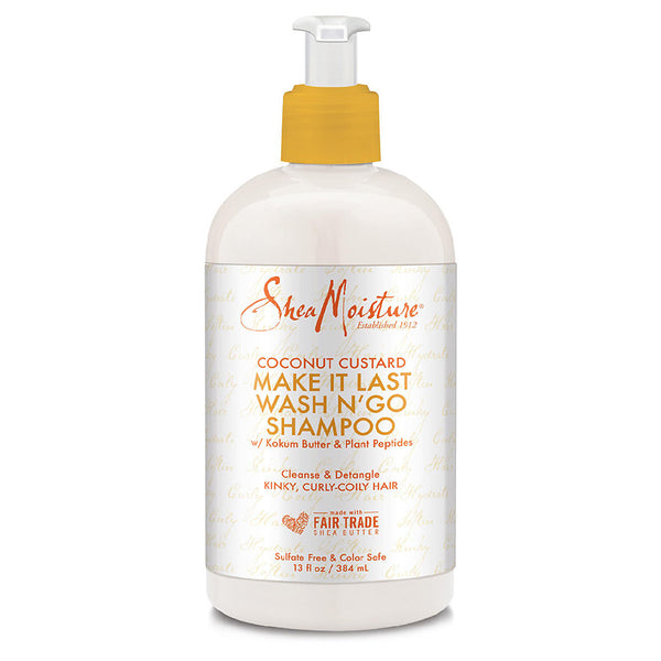 Shea Moisture Coconut Custard Make It Last Wash N'Go Shampoo - Shampoing 577ml