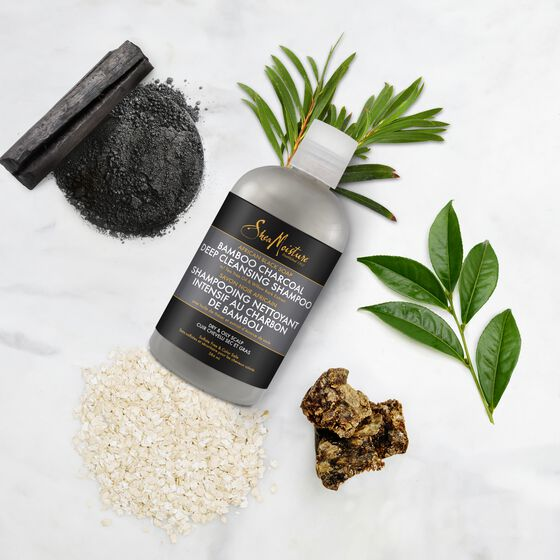 Shea Moisture African Black Soap Bamboo Charcoal Deep Cleansing Shampoo - Shampoing 384mlml