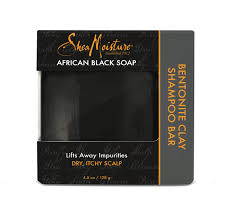 Shea Moisture Bentonite Clay Shampoo Bar African Black Soap 128g