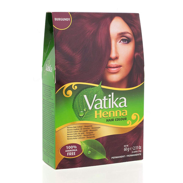 Vatika Henna Hair Color Burgundy - Bourgogne 6x10g