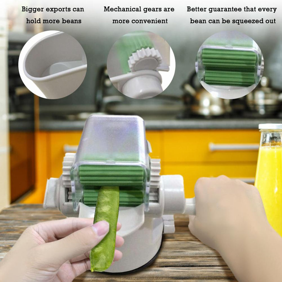 Peeling Pea Vegetables Hand Rolling Machine