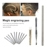 Magic Engrave Beard Hair Scissors Eyebrow Carve Pen