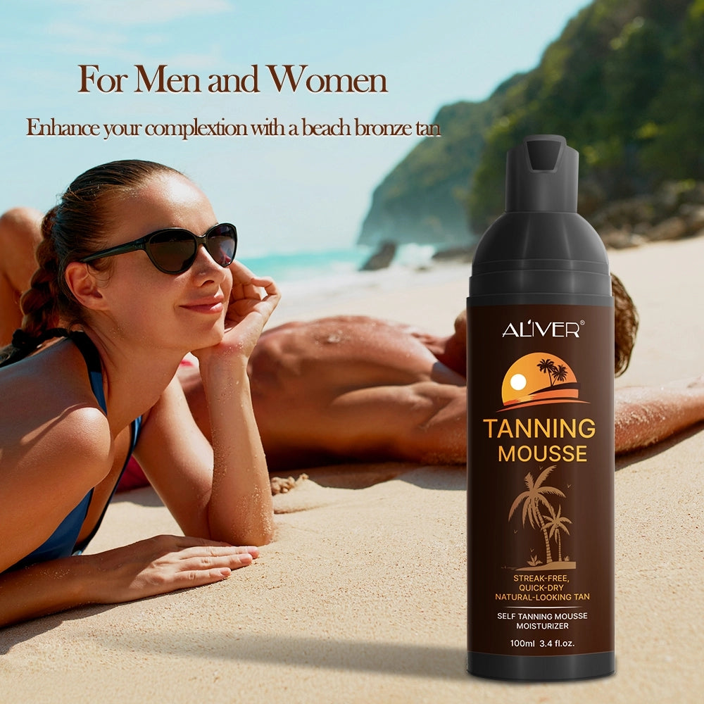 1 pcs Moisturizing No Streaks Self Tanning Mousse,