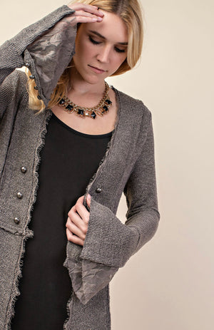 Vocal Knit Long Sleeve Jacket