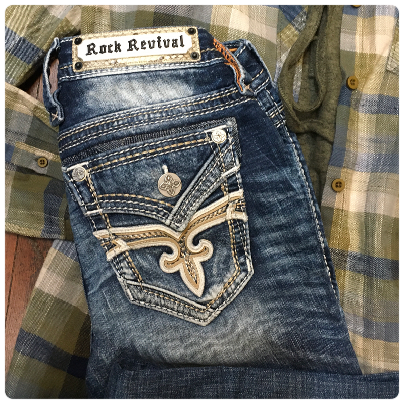 Rock Revival Jadeite Straight Leg Jean