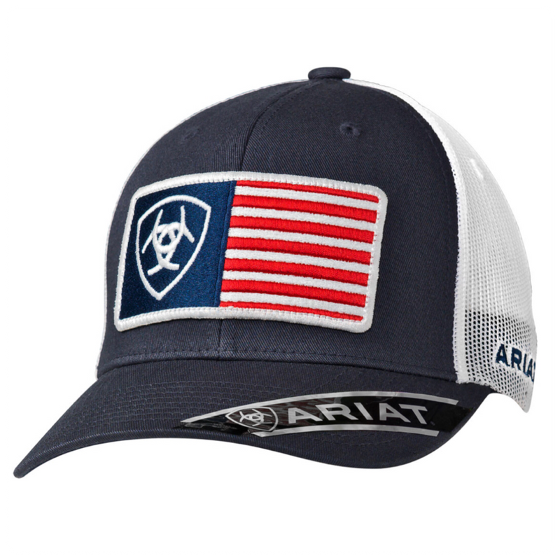 Ariat Mens RFit USA Flag Patch Cap