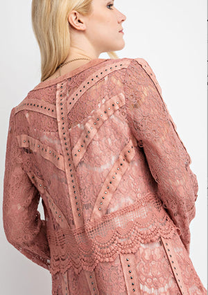 Vocal Studded Lace Jacket