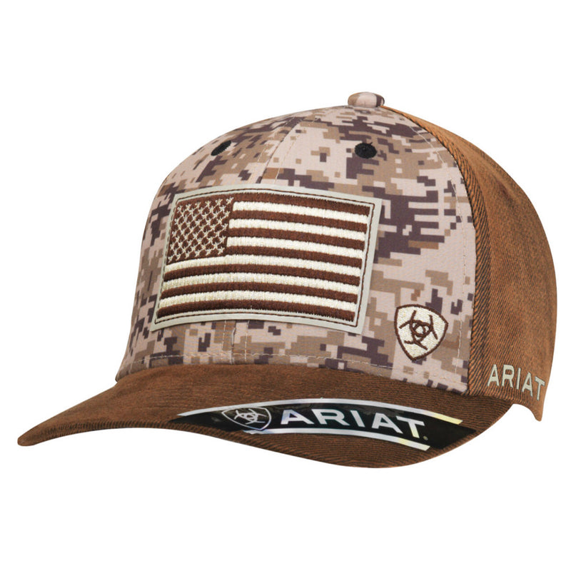 Ariat Mens Digital Camo Flag Cap