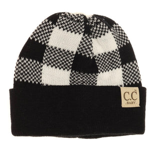 CC Baby Buffalo Plaid Beanie