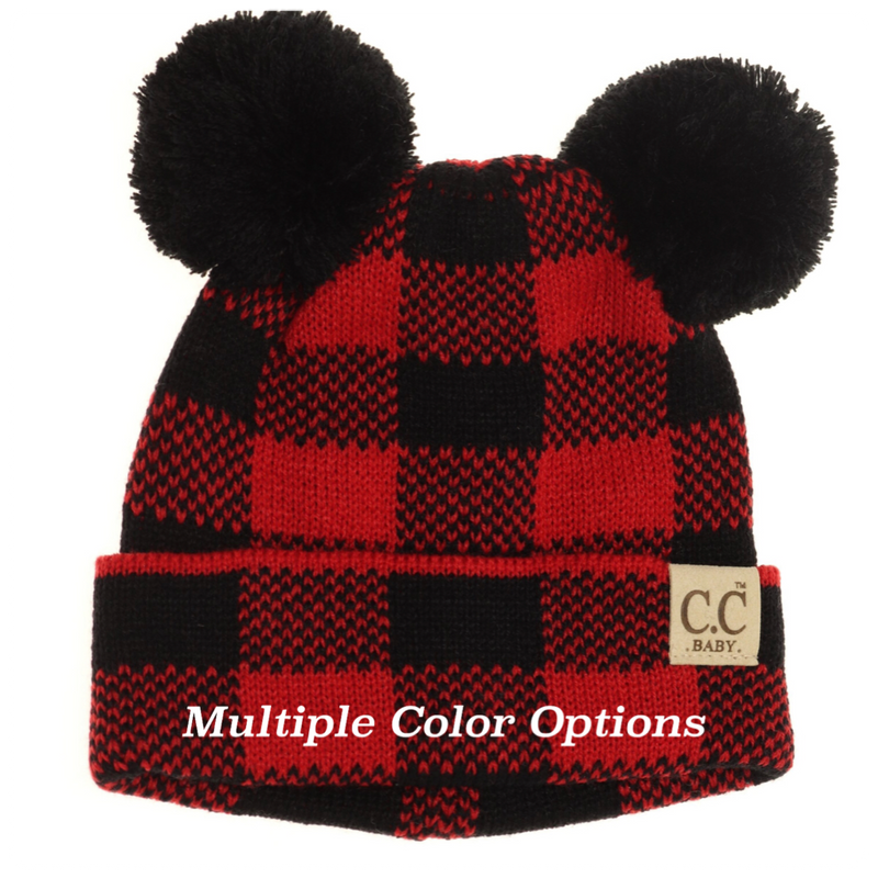 CC Baby Buffalo Plaid Pom Pom