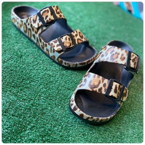 Corkys Hey Girl Waterslide Leopard Sandal