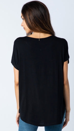Vocal Short Sleeve Top with Stones
