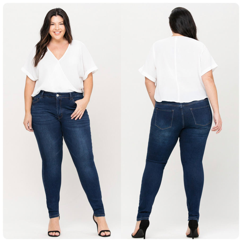 Mid Rise Plus Size Skinny