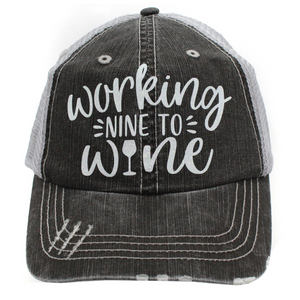 Working Nine To Wine Ball Cap