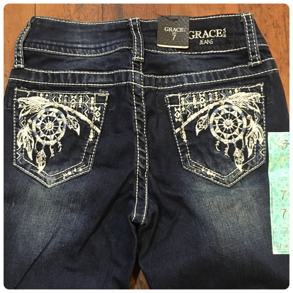 Grace in LA Girls Dreamcatcher Boot Cut Jeans
