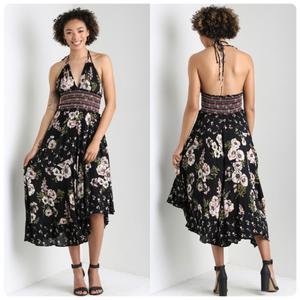 Halter Dress with Tiered Skirt