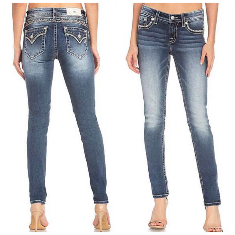 Miss Me Hailey Skinny with Turquoise Detail