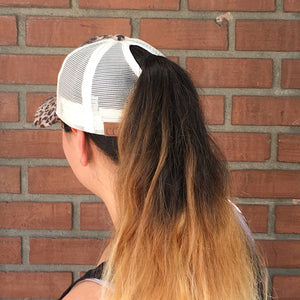 C.C.Exclusive Ponytail Messy Bun Cap