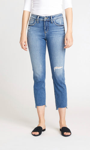 Avery High Rise Slim Crop Jeans