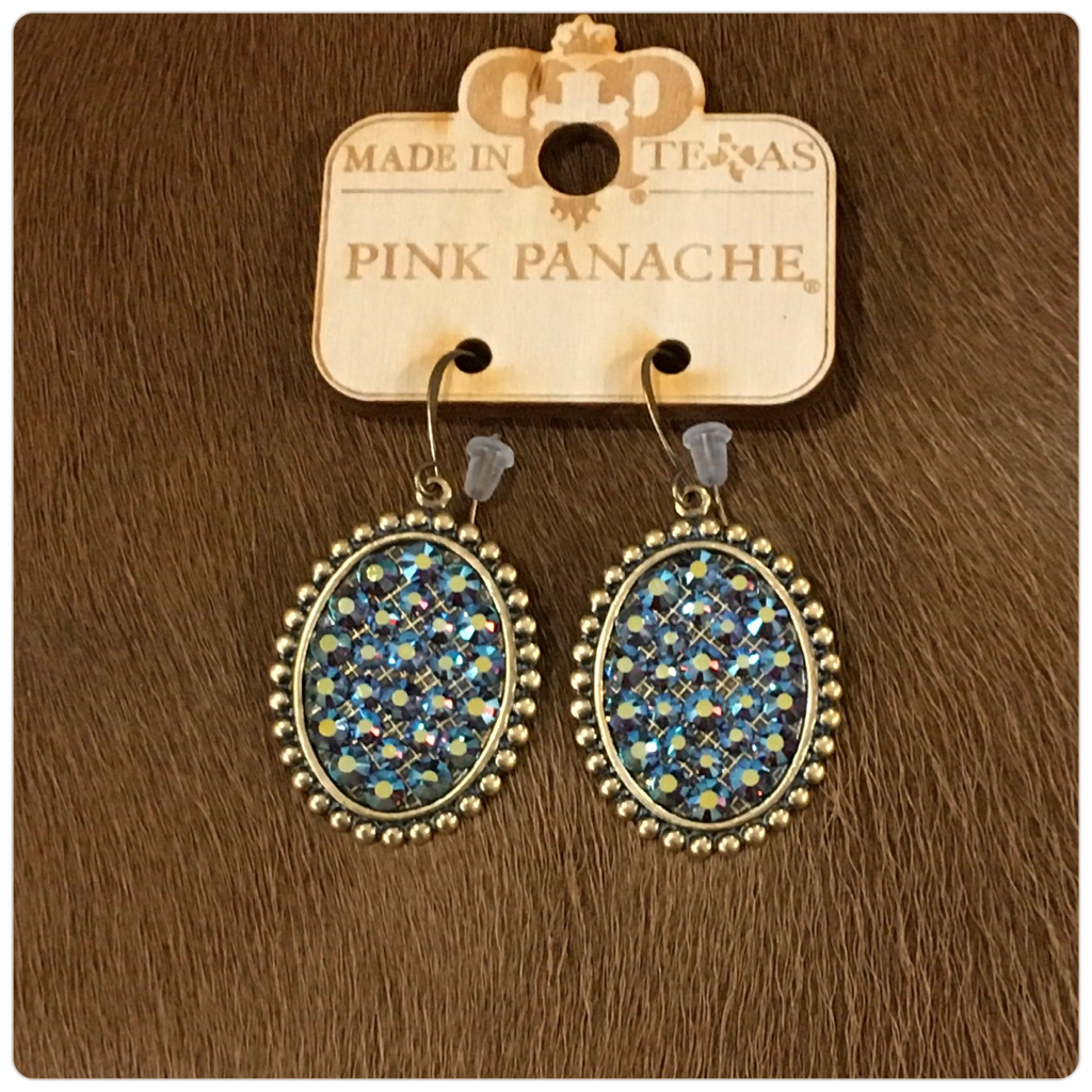 Pink Panache Small Oval Crystal Earring