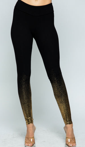 Vocal Foil Legging Black/Gold