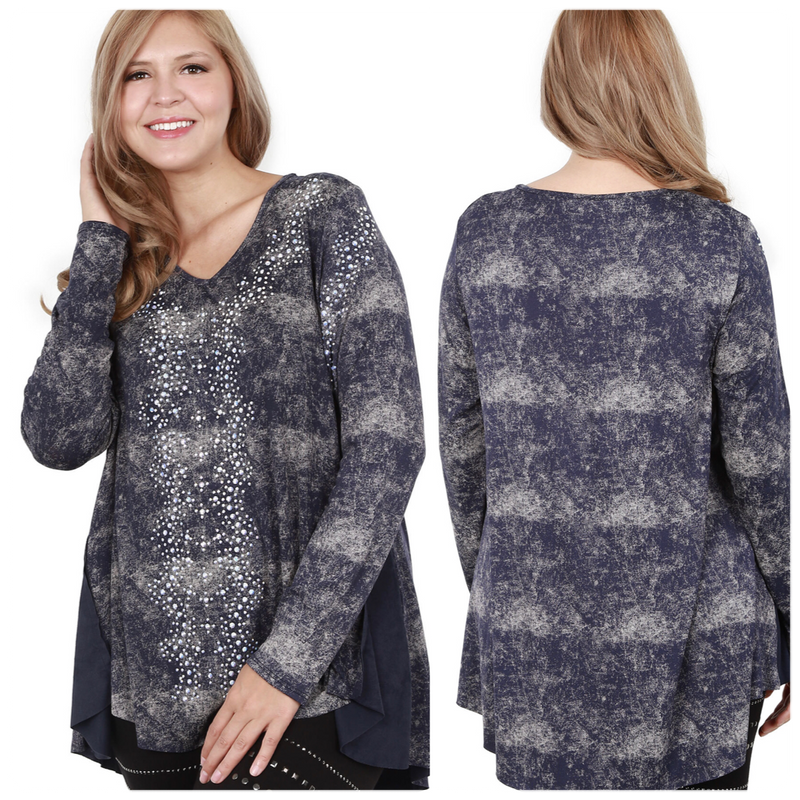 Vocal Long Sleeve Plus Top