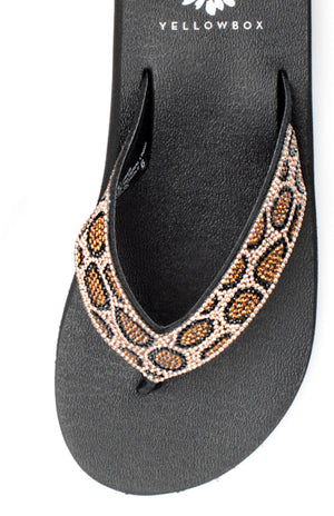 Yellow Box Naseeba Leopard Sandal