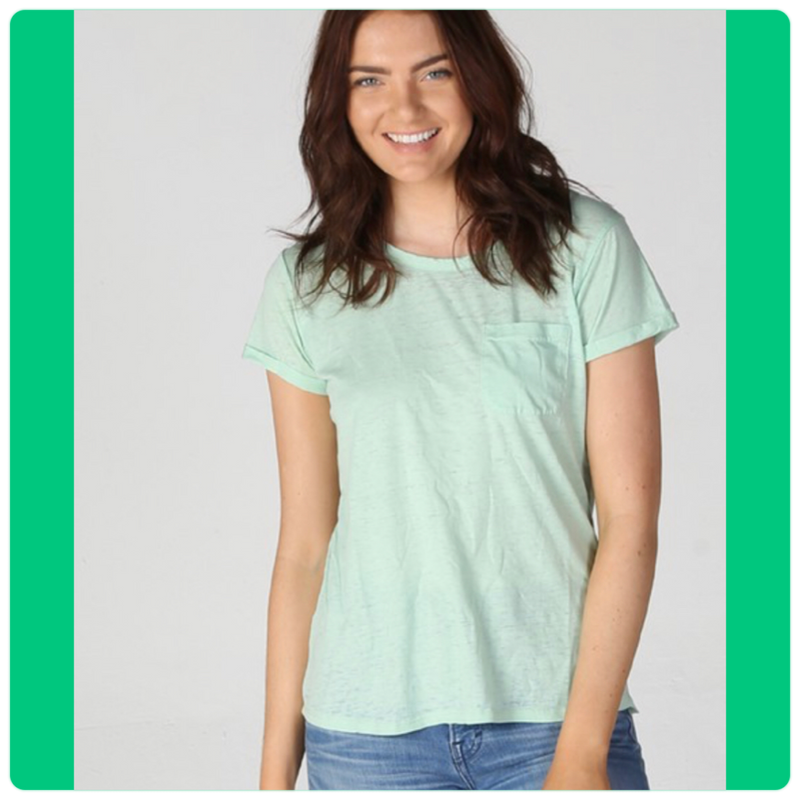 Burnout Pocket Tee Mint