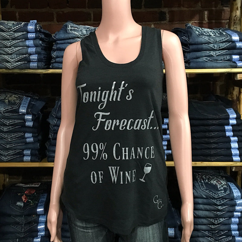 Tonight's Forecast, 99% Chance of Wine Tank