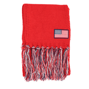 CC FLAG Scarf with Tassels