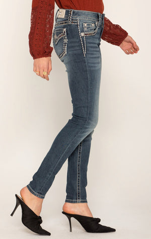 Miss Me Caught on the Border Skinny Jean