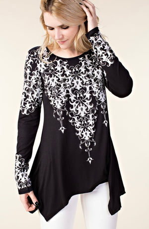 Vocal Long Sleeve Detailed Top