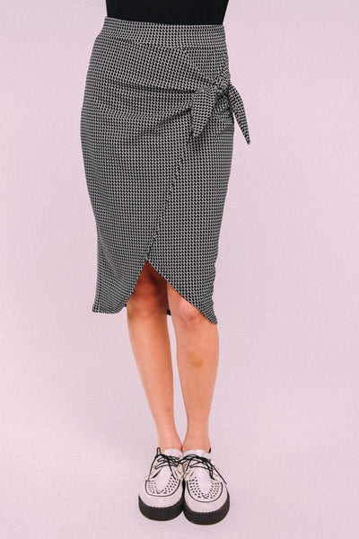 TIE TULIP PENCIL SKIRT